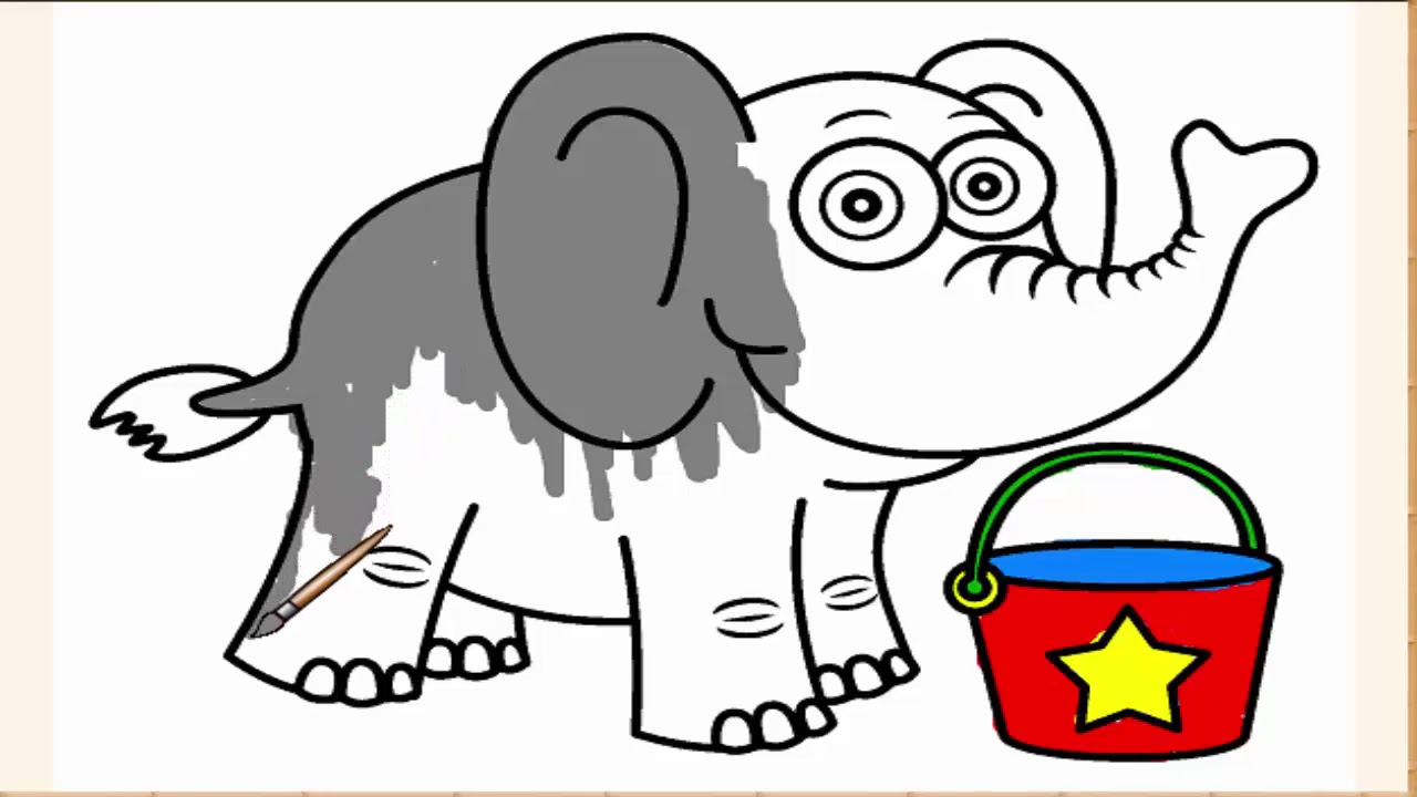 COLOR THE ELEPHANT - LISTEN TO LEARN WITH ELEPHANT - YouTube