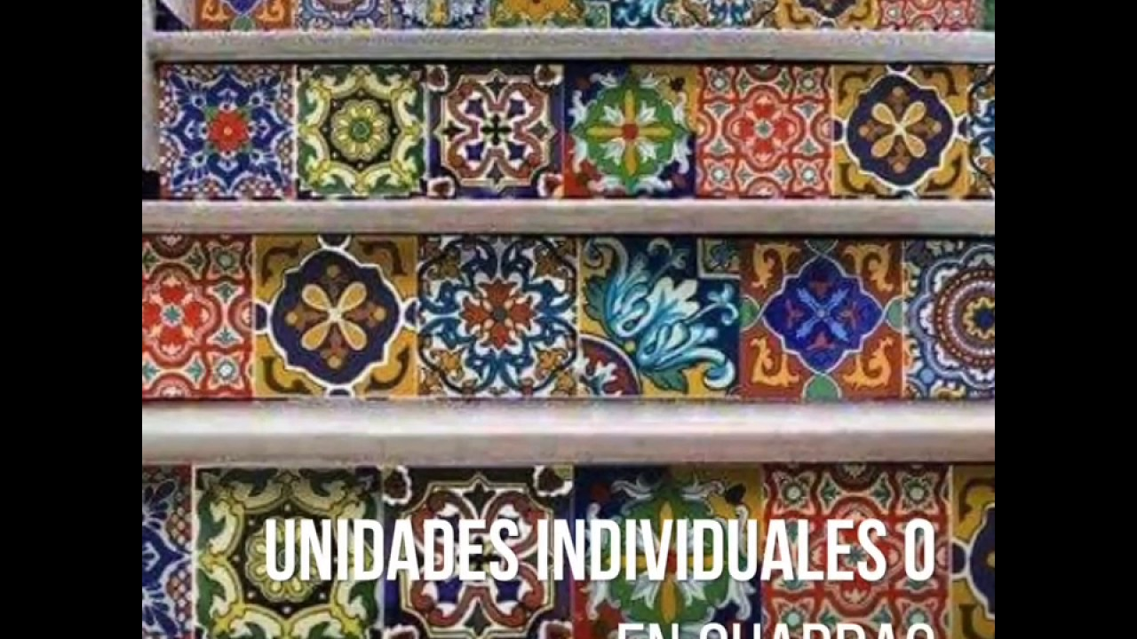 Vinilo azulejos adhesivos talavera marroqu youtube for Azulejos adhesivos baratos