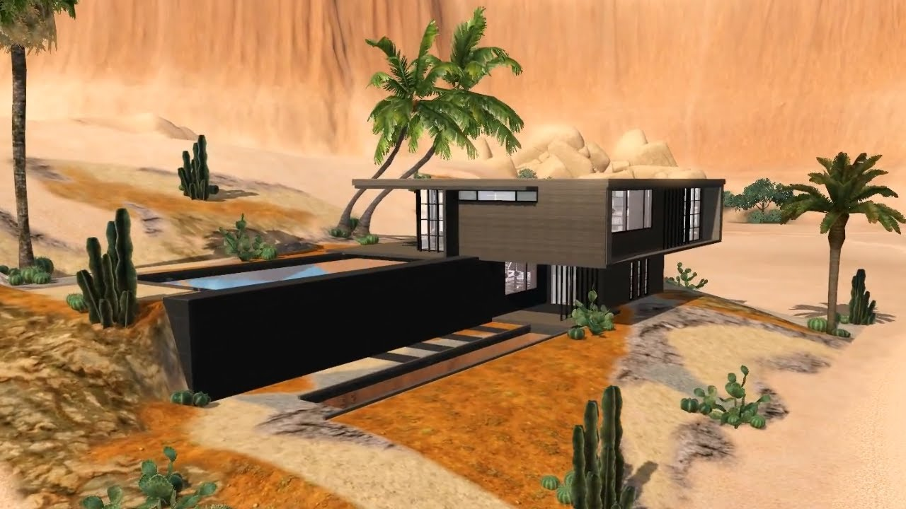 The Sims 3 Modern House - Desert Flavour HD + Download ...