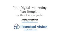 Digital Marketing Plan Template 10 2015