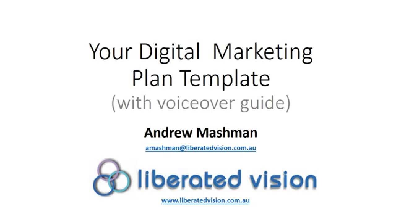 Digital Marketing Plan Template 10 2015 Youtube