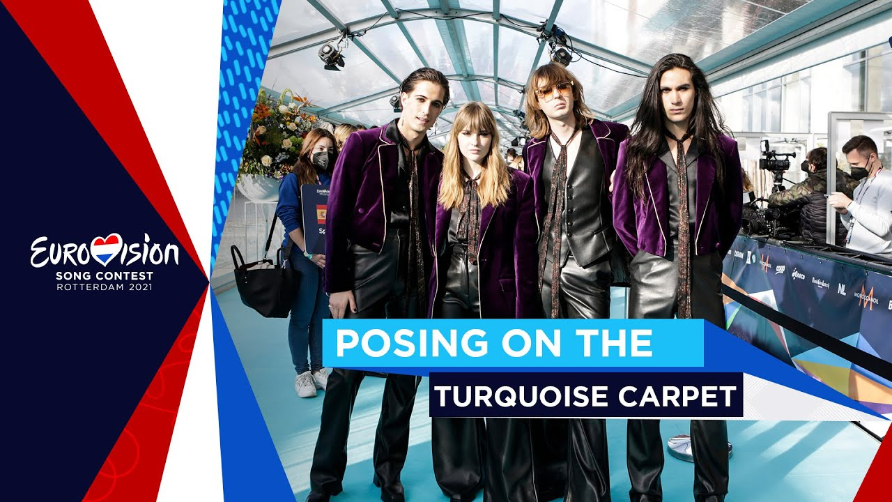 Posing on the Turquoise Carpet - Eurovision Song Contest 2021