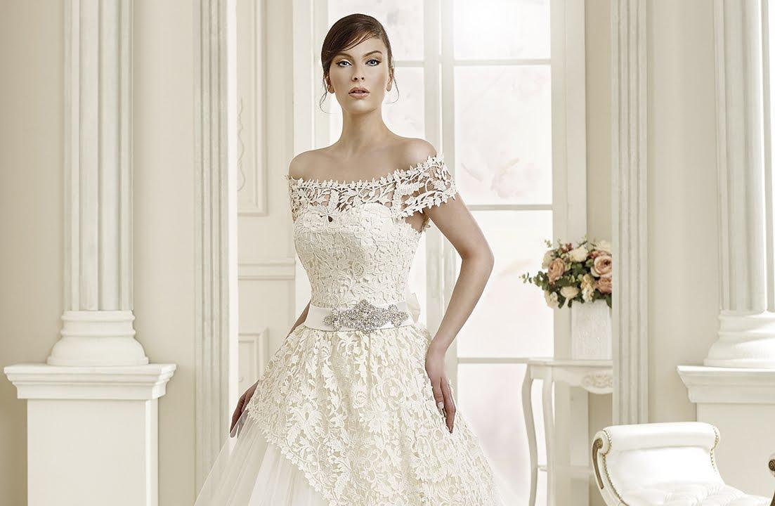 Nova bella bridal off the lace shoulder wedding dress for Turkish wedding dresses online