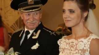 Иван Краско на собственной свадьбе.  Ей 24 ему 84