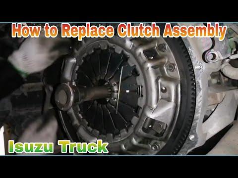 How to Replace Clutch, Clutch Disk, Pressure Plate, Release Bearing, Isuzu truck, Clutch Assembly