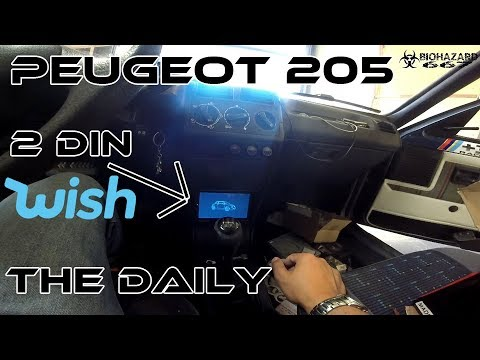 How to 2 DIN your peugeot 205! // Projects garage: The Daily