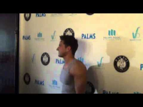 Jeff timmons on red carpet for PALMS Casino Diddy event vegas 2011