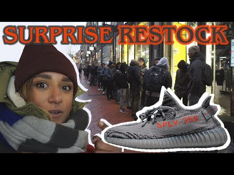 RESTOCK CAMPOUT FOR THE YEEZY 350 V2 BELUGA 2.0 + COMPARING To BELUGA 1.0