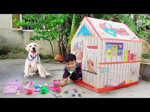 Trò Chơi Phòng Khám Nhà Lều ❤ ChiChi Kids TV ❤ Đồ Chơi Trẻ Em Baby Doli