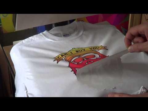 Papier sublimacyjny do bawełny. Wykonanie nadruku na koszulce 100% bawełna tuszami sublimacyjnymi.
