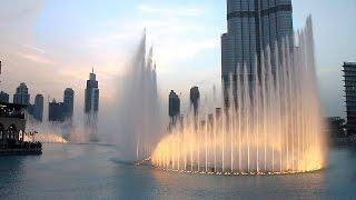 Fountain in Dubai - Fontanna w Dubaju tańcząca do muzyki Andrea Bocelli