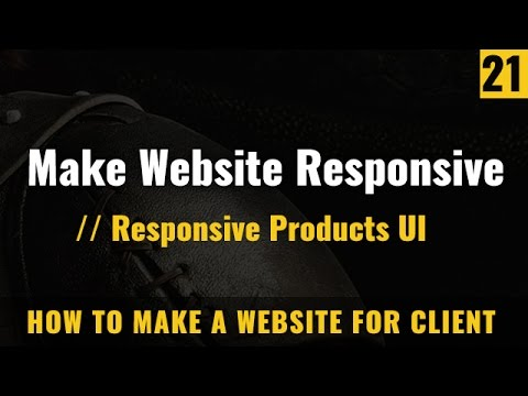 Make Responsive Website Products Ui - How To Make A Website In Hindi / Urdu
