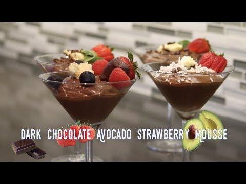 How to Make Vegan Dark Chocolate Avocado Strawberry Mousse Pudding (2018) RockinRaffi Ep. 31