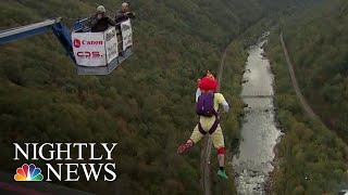 Daredevils Jump 800+ Feet On West Virginia 'Holiday' | NBC Nightly News