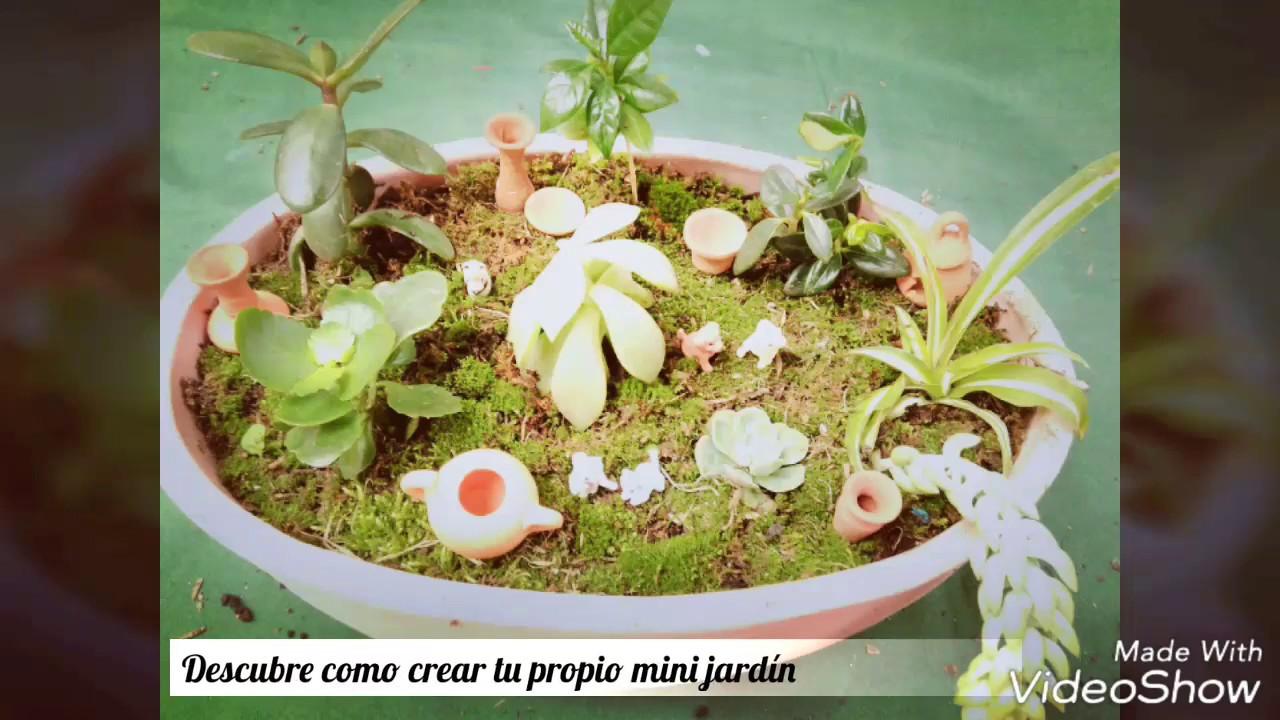 Como hacer un mini jardin terrario tutorial youtube for Como preparar un jardin