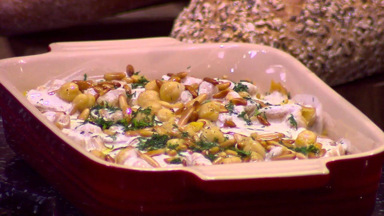 فتة حمص - فتة مكدوس - فتة دجاج محشي بالفريك والارز : من مطبخ أسامة حلقة كاملة