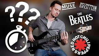 Guess 25 Songs By Famous BASS Lines