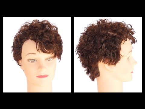 Curly Hair Pixie Haircut Tutorial