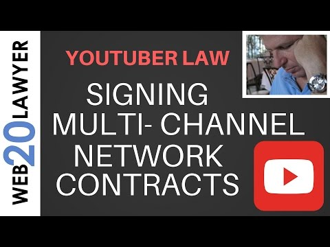 Should You Sign 🖊 Multi Channel Network (MCN) Contract 👎 ? (YouTuber Law #44)