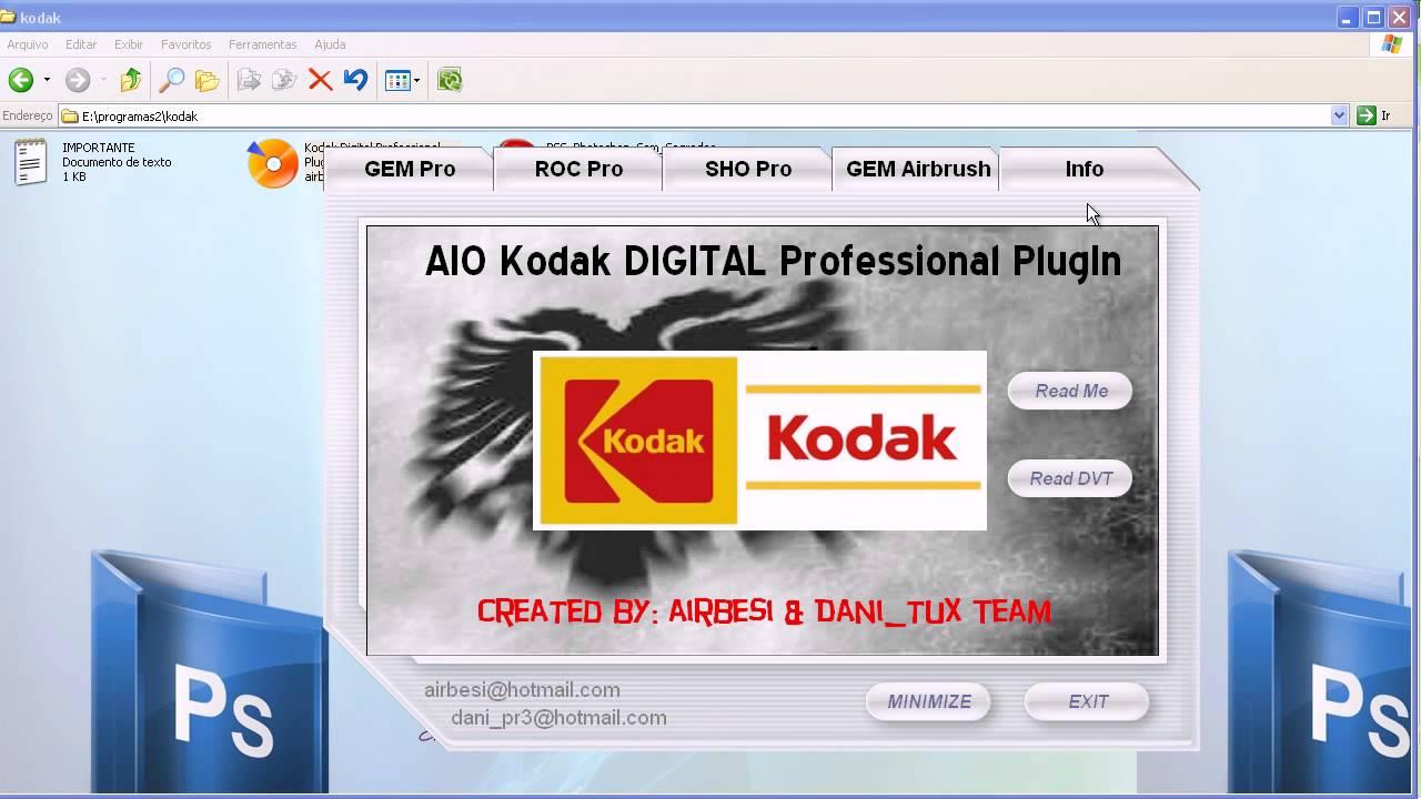Como instalar o plugin da K O D A K