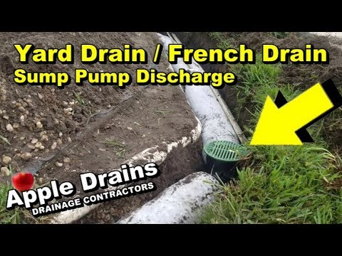 Backyard Drainage French Drain With Sump Pump Discharge