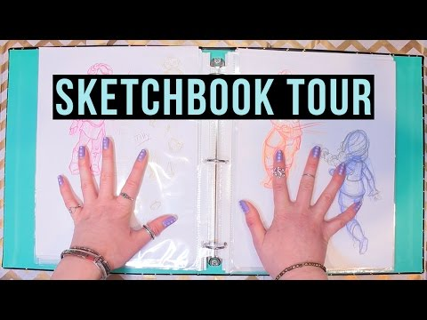 SKETCHBOOK TOUR! My Concept Art Thesis!