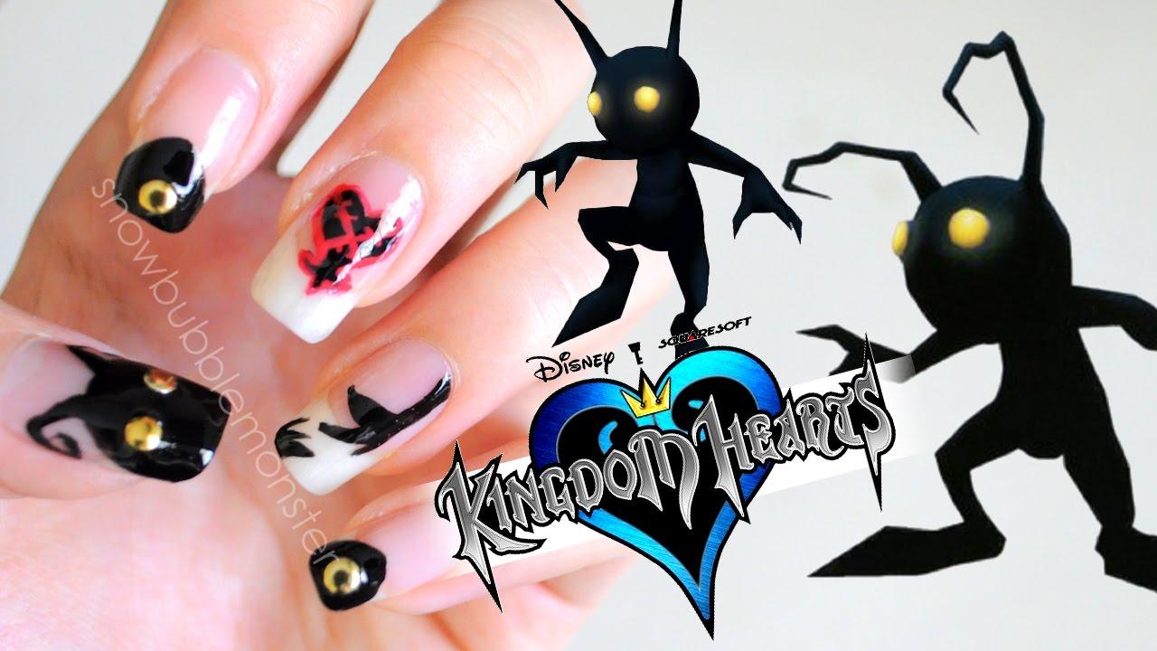 Kingdom Hearts • Heartless (Shadow) Nails | snowbubblemonster - YouTube