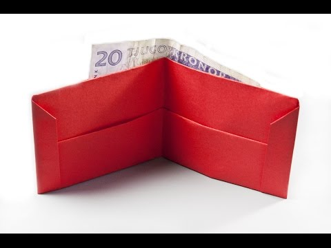 How to make a paper wallet    Origami wallet   Easy origami