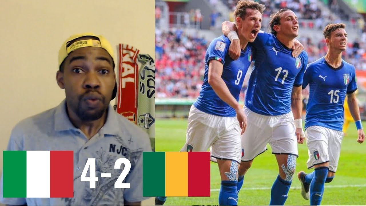Italy U20 v Mali U20 - FIFA U-20 World Cup Poland 2019 REACTION