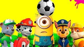 Мультфильм щенячий патруль играет в футбол Евро игрушки  pig EURO