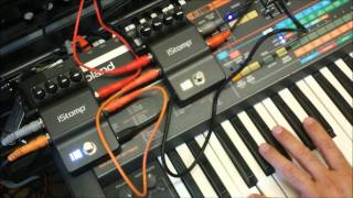 DigiTech iStomp Quick Demo with Synthesizer and Drum Machine