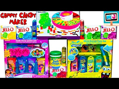 Посылка с Америки - GIANT GUMMY CANDY MAKER, Bath Paint Dora The Explorer, Spongebob