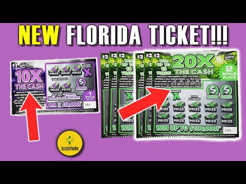 MORE NEW SCRATCHCARDS! FL Lottery Scratch Off Tickets - 10X And 20X FL Lotto