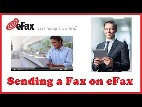 Sending a Fax on eFax