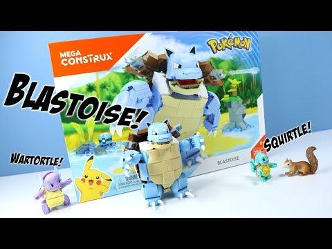 MEGA Construx Pokemon Blastoise Wartortle And Squirtle