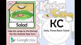 Zesty Three Bean Salad - Kitchen Cat