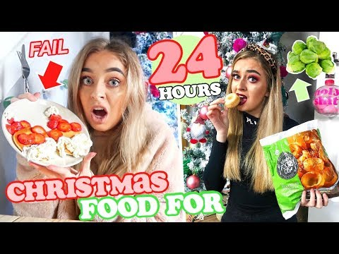 I ONLY ate CHRISTMAS FOOD for 24 HOURS! *So GROSS!*