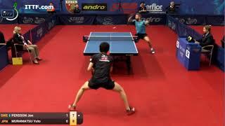 Table Tennis - Attack (PERSSON) Vs Defense (MURAMATSU) LXXIII !
