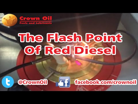 Flash Point Red Diesel Closed Cup Experiment Crown