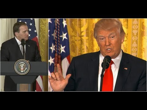 President Donald Trump SLAMS The European Union at Press Conference with Sweden PM Stefan Löfven