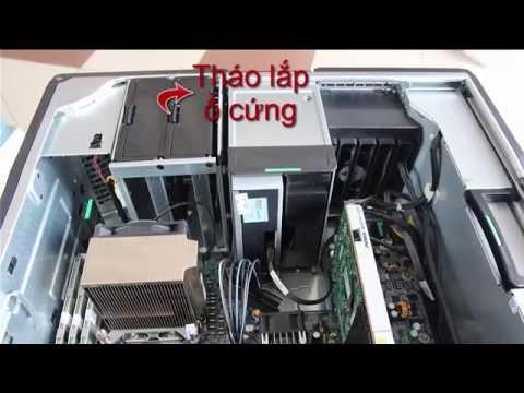 Review máy trạm HP Z600 Workstation về thiết kế - Tháo lắp linh kiện trong  máy