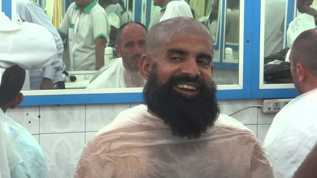How to remove head Hair after performing Umra March 11 Mecca Saudi Arabia