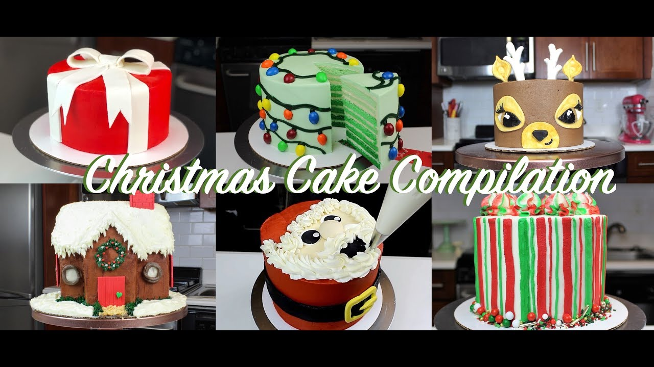 Amazing Christmas Cake Decorating Ideas Compilation Chelsweets Youtube