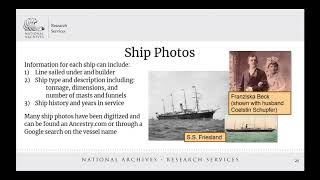 2019 Virtual Genealogy Fair Session 3 Immigrant Records: More Than Just Ship Passenger Arrival Lists