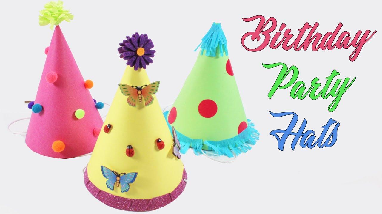 6fdb911c63b1a Birthday Party Hats | Cute Birthday Hats For Kids - YouTube