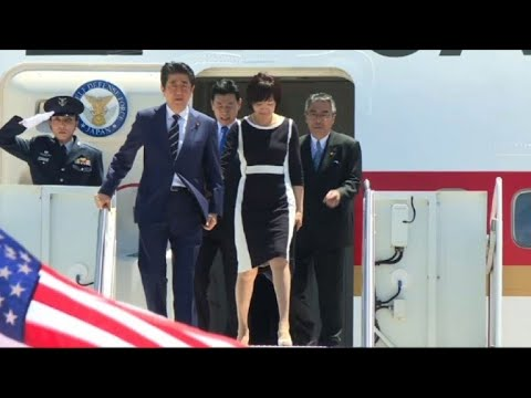 Japanese PM Shinzo Abe arrives in Florida