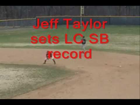 Jeff Taylor Sets LC Career Stolen Base Mark