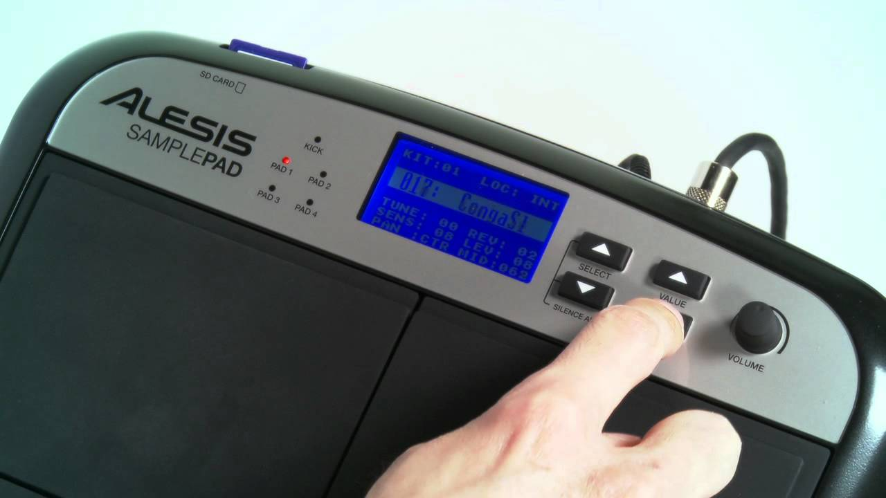 Alesis SamplePad: Loading and Formatting Sounds Tutorial - YouTube