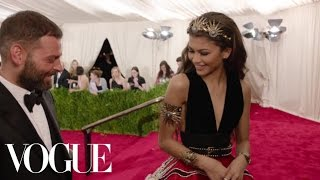 Zendaya and Fausto Puglisi at the Met Gala 2015 | China: Through the Looking Glass