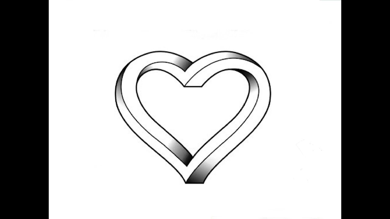 how to draw an impossible heart optical illusion rh youtube com human heart drawing pictures real heart drawing pictures